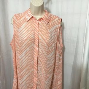#313–. Lane Bryant sheer blouse top size 18